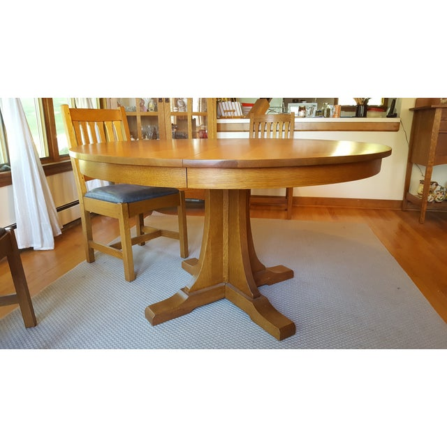 Mission Style Stickley Oak Dining Set Set Of 9 Chairish