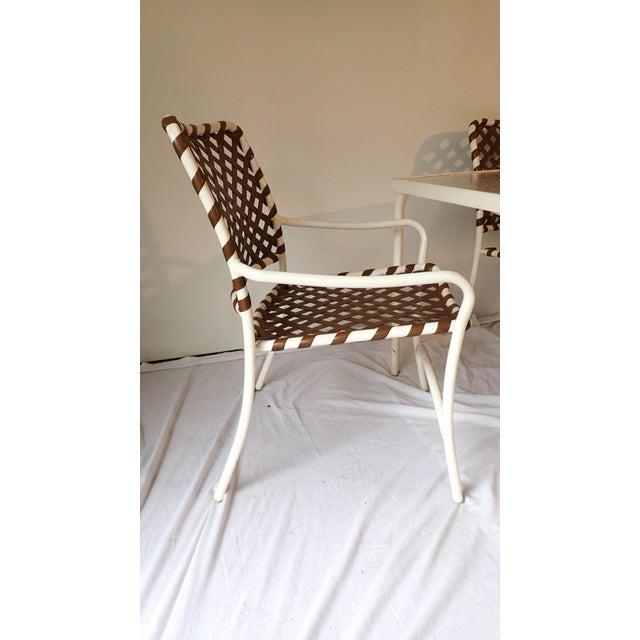 Tropitone Brown & White Outdoor Patio Set - Set of 5 - Image 9 of 11