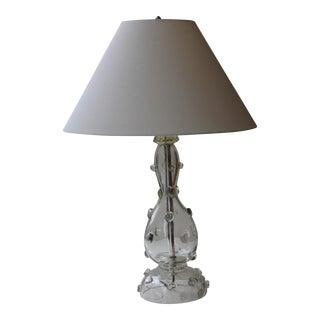 Vintage Mid Century Modern Glass Table Lamp
