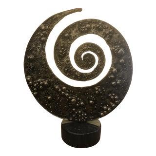 1996 Brutalist 'Spiral' Cascu Metal Sculpture