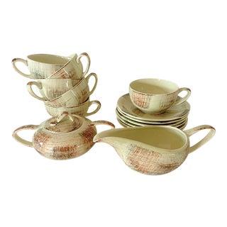 Metlox California Mid-Century Coffee or Tea Service- 14 Pieces