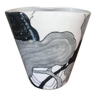 Mid-Century Ernestine Salerno Majolica Vase