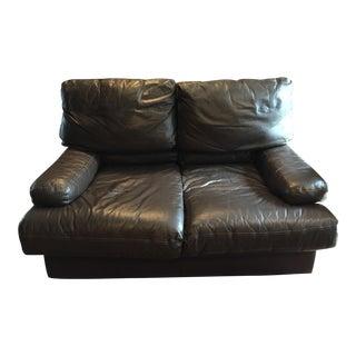 Dark Brown Brazilian Leather Sofa Set