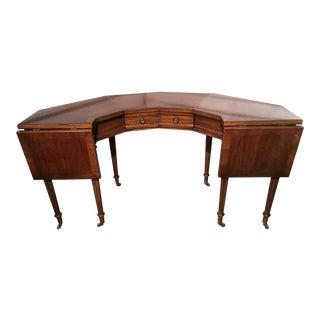 "Vintage Thomasville Drop-Leaf ""Horseshoe"" Desk"