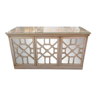 Hollywood Regency Style Fretwork Credenza