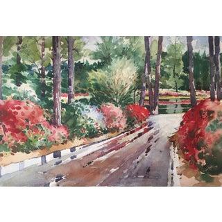 Watercolor Painting of Azalea Festival in Virginia