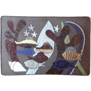 1970 Uppsala Ekeby Fish Motif Plate