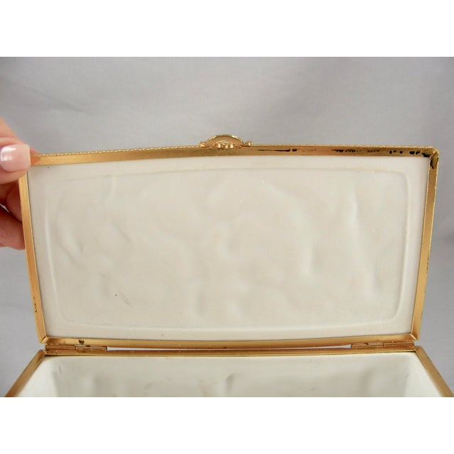 Limoges France White Bisque Dresser Box - Image 8 of 10