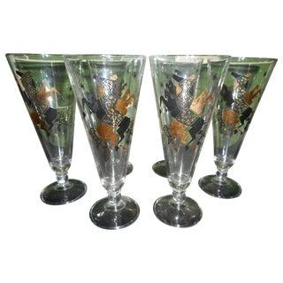 Pilsner Mid-Century Drinking Glasses - 6