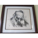 Image of Vintage Artists Proof Lithograph Portrait by Itsha