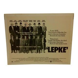 "Vintage Movie Poster ""Lepke"" Tony Curtis - 1974"