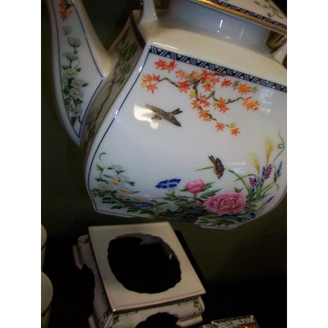 Franklin Mint Japanese Style Porcelain Tea Set - Image 3 of 11