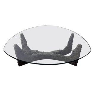 Paul Evans Style Bronze Brutalist Coffee Table