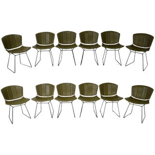 Bertoia for Knoll Mid Century Wire Side Dining Chairs - Set of 12