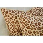 Image of Custom Safari Leopard Velvet Pillows - A Pair