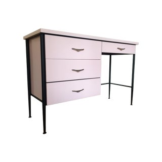 Mid-Century Modern Painted Pink Desk