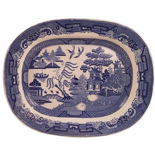 Dimmock & Smith Staffordshire Blue Willow Platter
