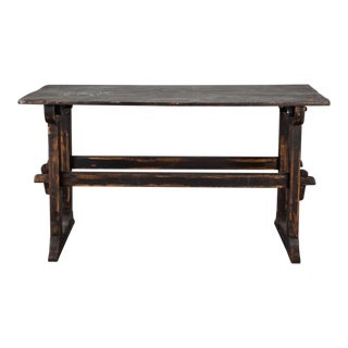 18th Century Swedish Trestle Table, c.1780