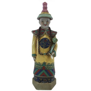 Vintage Chinoiserie Style Man Figurine