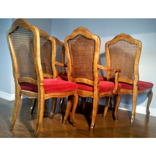French Provincial Wood Hibriten Dining Chairs 6 Chairish