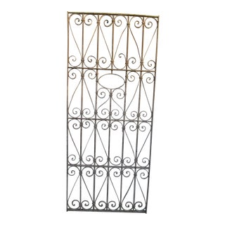 Antique Victorian Iron Gate Window Garden Fence Architectural Salvage Door #044