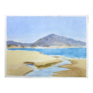Watercolor Santa Barbara Beach by Betty Levasheff