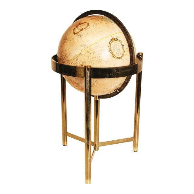 Mid-Century Modern Replogle World Globe W Brass Stand - Image 1 of 11