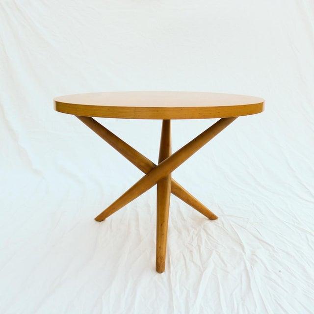 1955 T.H. Robsjohn-Gibbings Widdicomb Tripod Table - Image 2 of 7