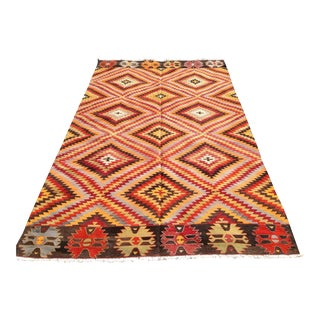 "Vintage Turkish Kilim Runner - 5'5"" x 9'4"""