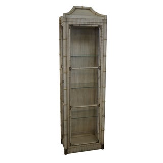 Hollywood Regency Faux Bamboo Pagoda Top Curio