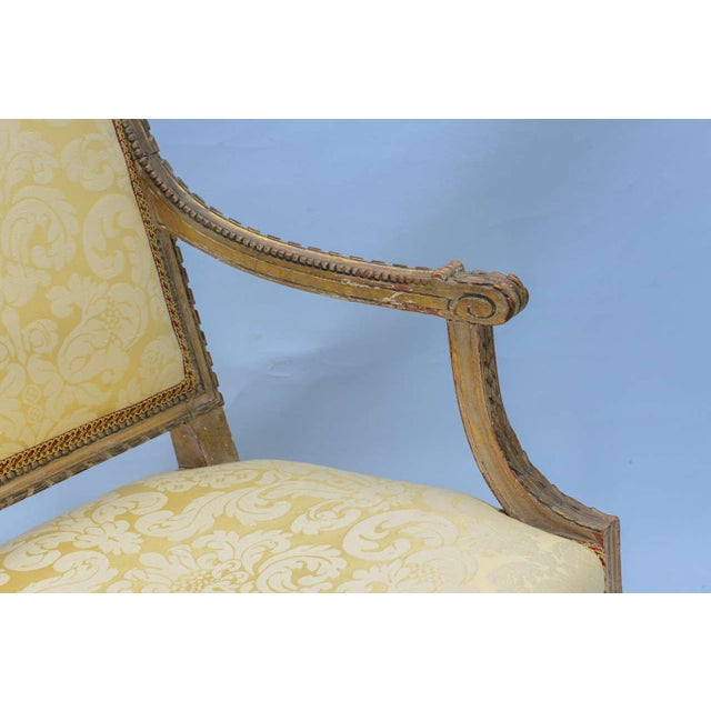 Pair of Early 19th Century Louis XVI Fauteuils - Image 6 of 10