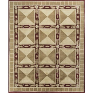 "Contemporary Hand Knotted Wool Rug - 7'11"" x 9'8"""