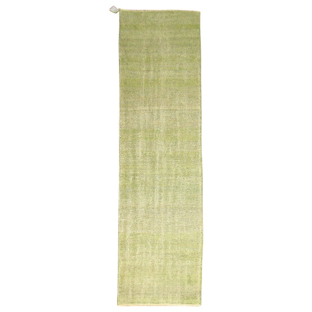 Green Over-dye Turkish Runner - Image 1 of 5