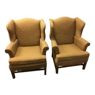 W & J Sloane Wingback Chairs - A Pair
