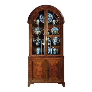 Baker Historic Charleston Bonnet Top China Cabinet