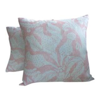 """Mary McDonald for Schumacher """"Villa De Medici"""" in Blush Conch Pillows - a Pair"""