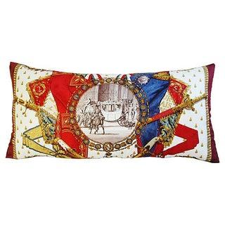 "Silk Hermes ""Napoleon"" Philippe Ledo Pillow"