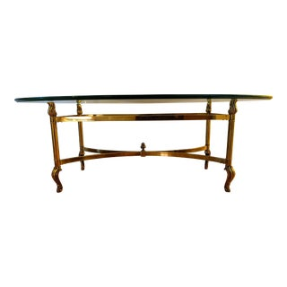La Barge Hollywood Regency Solid Brass and Glass Coffee Table