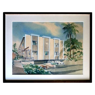 """Palm Spring in the Fifties"" Lithograph"