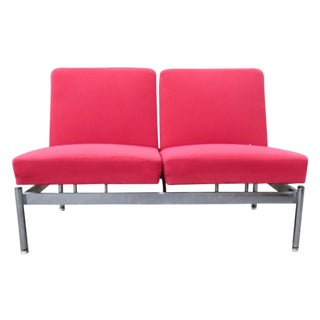 Wolfgang Hoffmann Red & Chrome Settee