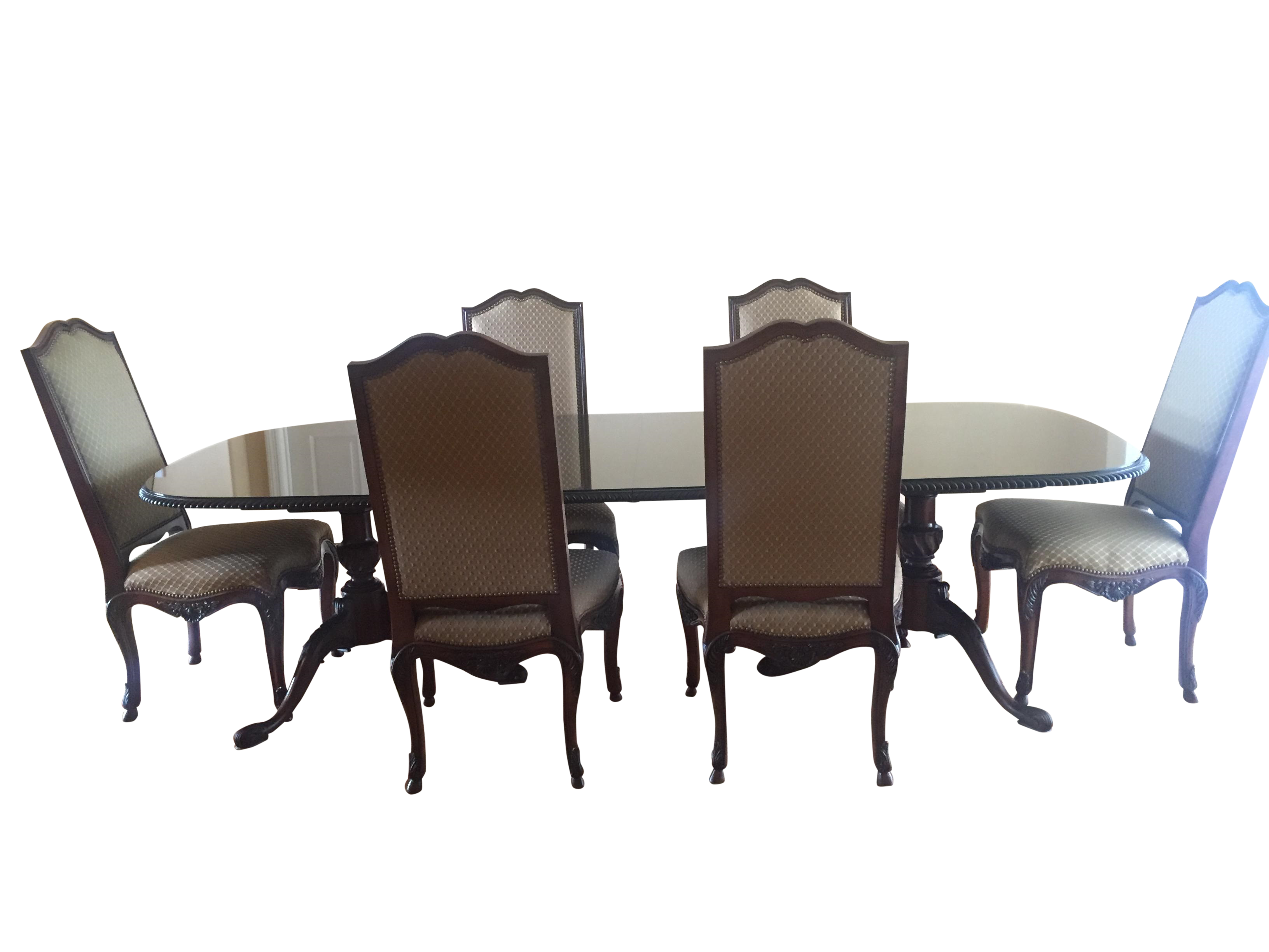 vintage henredon dining set chairish