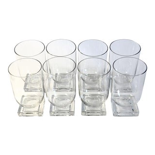 Square Base Water Goblets - Set of 8