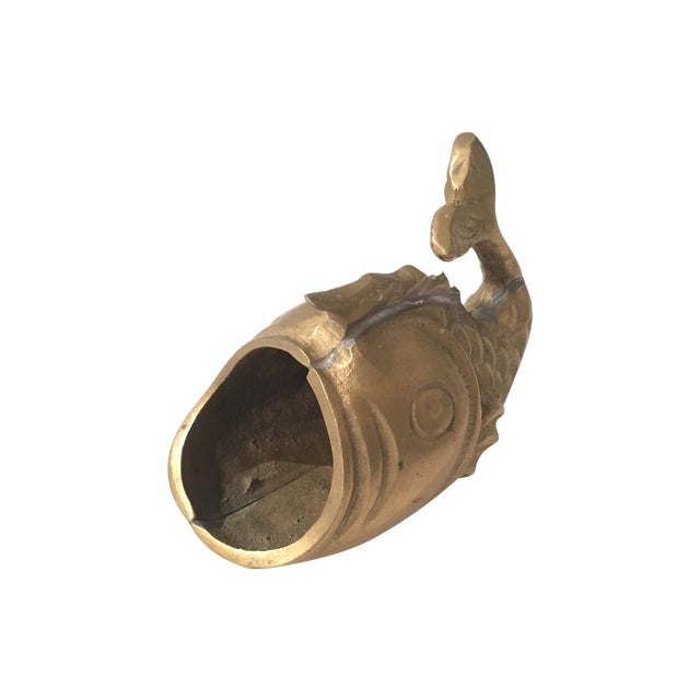 Image of Brass Open Mouthed Fish Catch All
