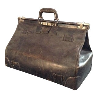 20th C. English Leather Travel Bag
