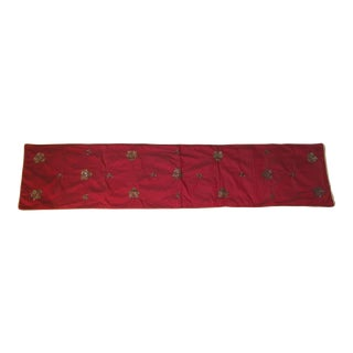 Red & Gold Silk Table Runner
