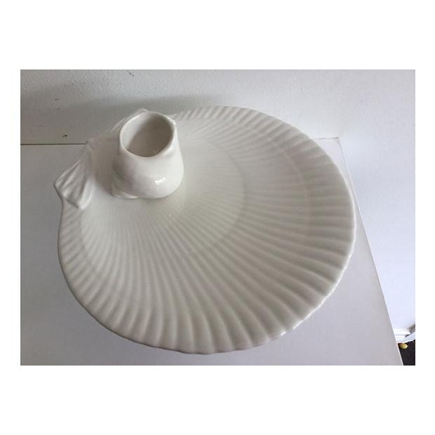 Image of Italian Shell Footed Plate