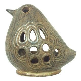 Lisa Larson Style Scandinavian Ceramic Hanging Bird Candle