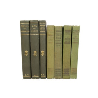 French Art Deco Cloth-Bound Books - Set of 7