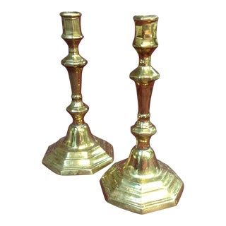 Brass Candlesticks -- A Pair