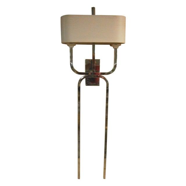 Mid-Century Modern Chrome Mounted Wall Light Chairish